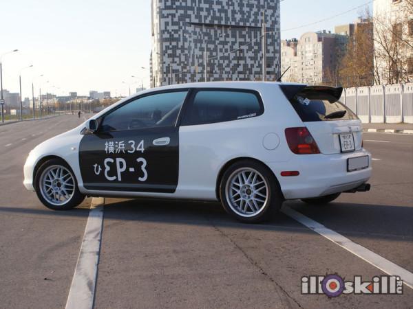 Оклейка автомобиля Honda Civic Ep3