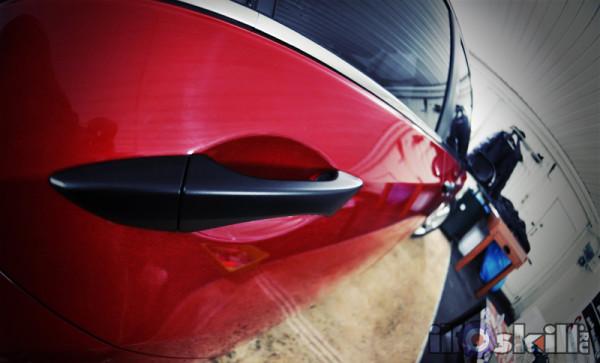 Тонировка оптики на Honda Accord оклейка ручек в чёрный