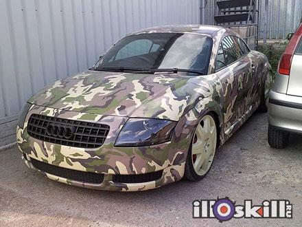 Камуфляж на автомобиль - Камуфляж на Audi (Ауди)