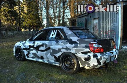 Камуфляж на автомобиль - Камуфляж на Subaru (Субару)