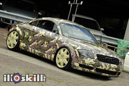 Оклейка автомобиля плёнкой Камуфляж