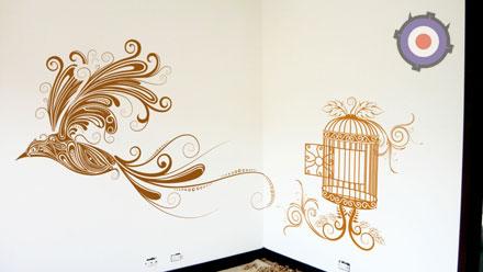 Плоттерная резка в Москве - оформление интерьера квартиры и офиса