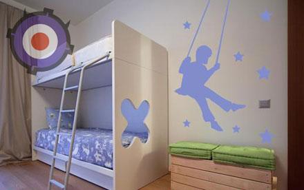 Оформление детской комнаты виниловыми наклейками