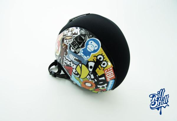 Оклейка шлема плёнкой с печатью, наклейками