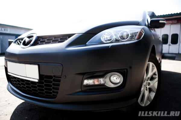 Оклейка Mazda СХ7 Матовой плёнкой