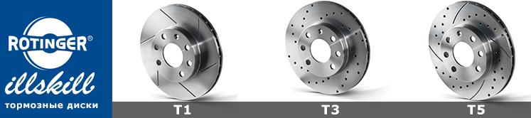 Варианты тормозных дисков